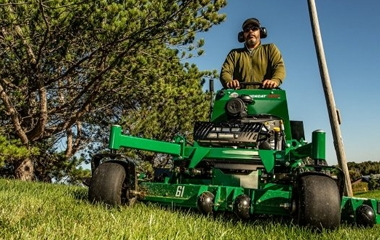Mow tight spots efficiently
